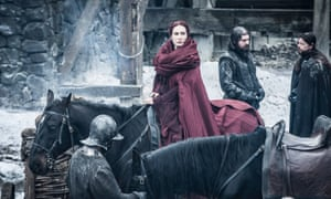 Castle Black's lady in red … Carice van Houten as Melisandre.
