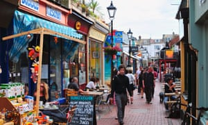 The North Laine shopping area in Brighton
