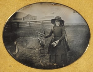 Portrait of a Girl with a Deer, about 1854, maker unknown, daguerreotype
