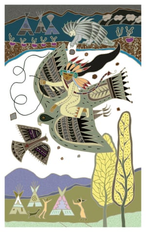 Illustration by Caroline Smith from the Folio Society edition of Folktales of the Native American collected by Dee Smith.