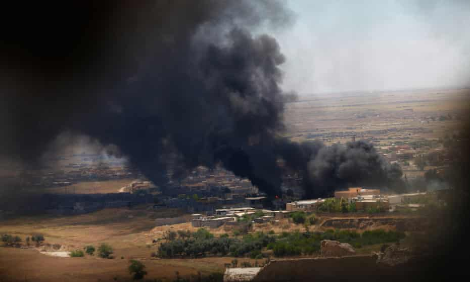 Iraqi air strike  against Islamic State militants  in Shingal earlier this month.
