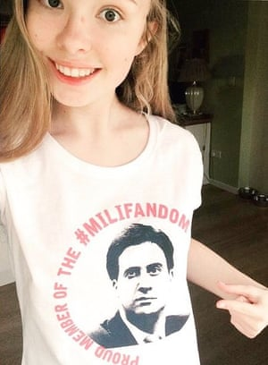 Abby Tomlinson in her Milifan T-shirt.