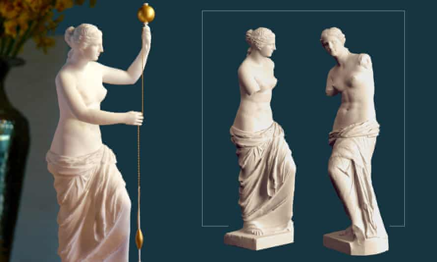 A reconstructed model of the Venus de Milo, depicting her spinning.