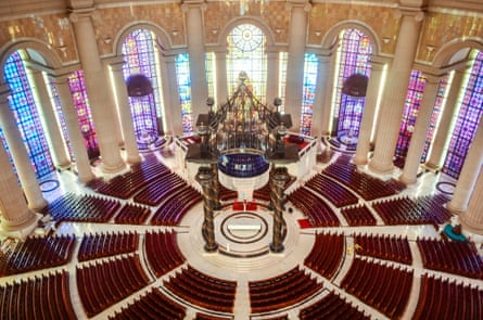 Each of the 7,000 seats in the basilica's nave has its own personal air-conditioning system.