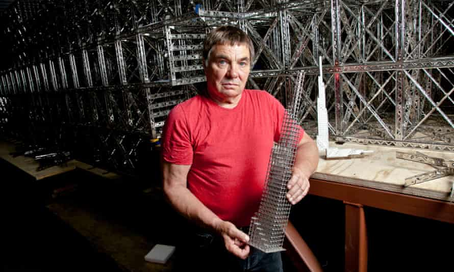 Los Angeles artist Chris Burden in his Topanga Canyon studio in 2011.