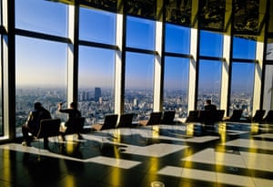 View from inside the Roppongi Hills complex.