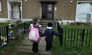 Children make their way home