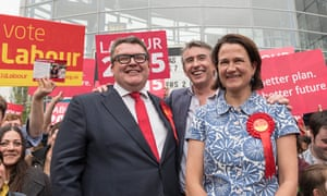 Catherine West with Tom Watson and Steve Coogan