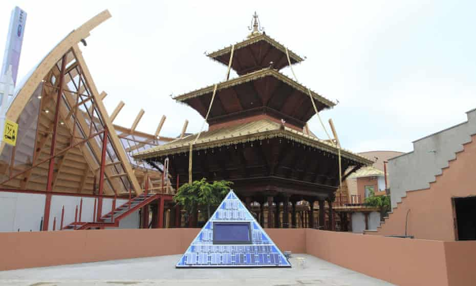The Nepal pavilion at Expo 2015.
