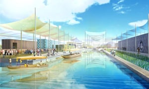 An early visualisation of Milan's Expo by Swiss architects Herzog & de Meuron in 2009.