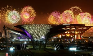 Fireworks mark the opening ceremony of the 2010 Expo in Shanghai.