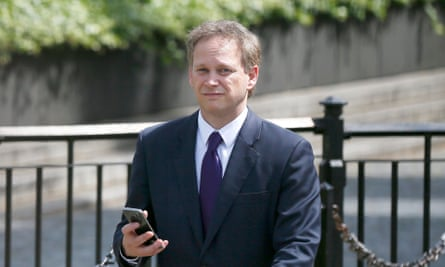 Grant Shapps at Westminster on Monday as David Cameron named his new cabinet.