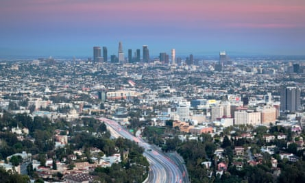 The promised land? Mulholland Drive and downtown Los Angeles.