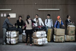 Shoppers in Hong Kong