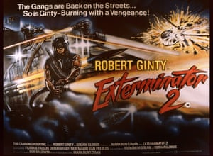 Exterminator 2, 1980. 'You know... the bad neighbourhoods! Burning barrels! Trash everywhere! Homeless people in the street! Where do we find it?'