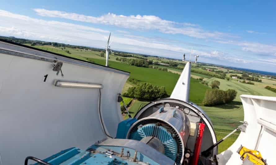 Wind turbines on Samso, Denmark