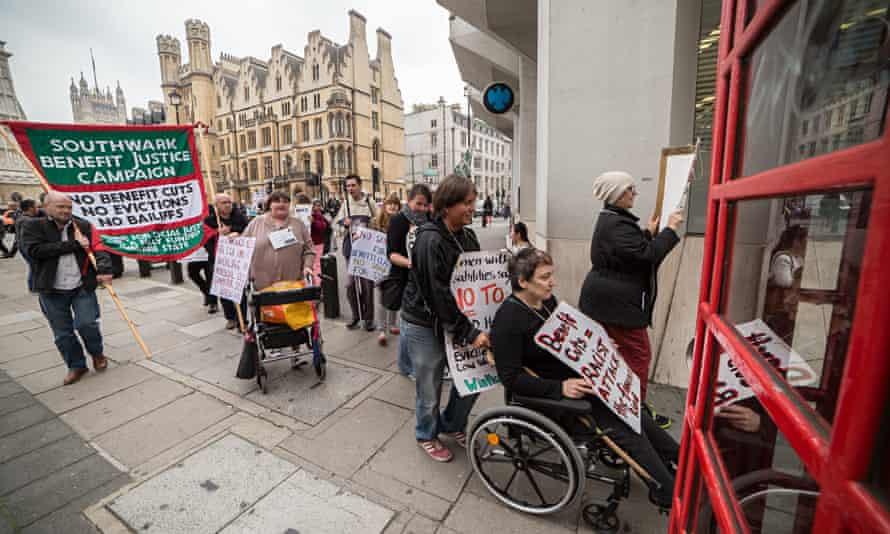 Disabled people protest against cuts in London