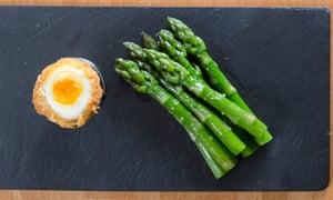 Wild Garlic's minimalist asparagus and deep-fried hen's egg.