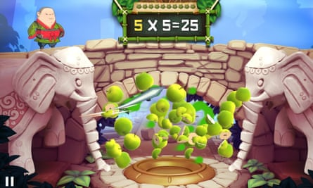 Fruit Ninja Academy: Math Master is available for Android and iOS.