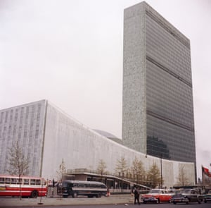 <strong>North By Northwest: United Nations Building</strong> <br>Permission is never granted to film at the UN building – but that didn't stop Alfred Hitchcock, who hid his camera inside a bread truck as Cary Grant casually walked up the stairs past oblivious guards. The interiors were recreated on a soundstage