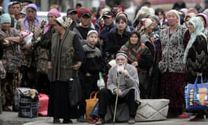 Refugees flee Uzbekistan after a military crackdown in the town of Andijan in 2005.