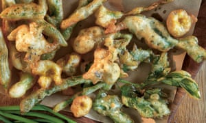 Spring fritters with wild garlic mayonnaise.