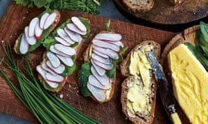 Spring garden sandwiches
