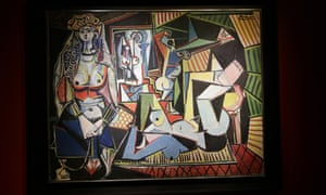 The record-breaking Picasso entitled 'Les Femmes d'Alger' on display after the auction.