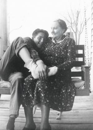 Willie Nelson with his grandmother Nancy