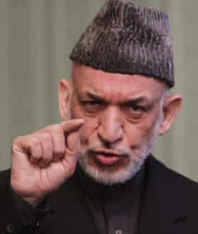 The former Afghan president Hamid Karzai. 'We want a friendly relationship but not to be under Pakistan's thumb,' he said.