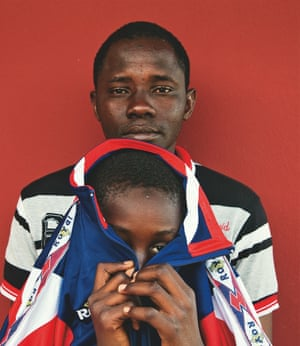 Ibrahim, 29, and Sidibe, 10, Mali: 'On the night we departed, I saw lots of people dying around me.'