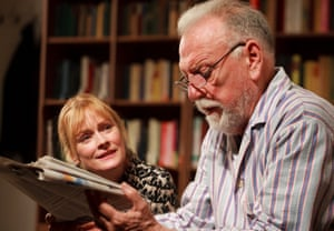 Claire Skinner and Kenneth Cranham in The Father at the Tricycle theatre, London