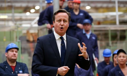 David Cameron factory visit