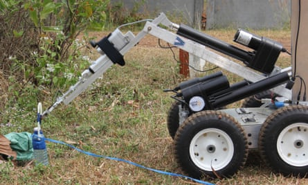 Thanks to a collaboration between Villanova University and the Golden West Humanitarian Foundation, landmine-pocked Cambodia may be able to manufacturer much-needed bomb disposal robots like this one developed by Villanova.