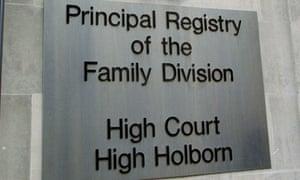 Mr Justice Holman family division high court divorce