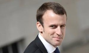 French Minister of Economy Emmanuel Macron.