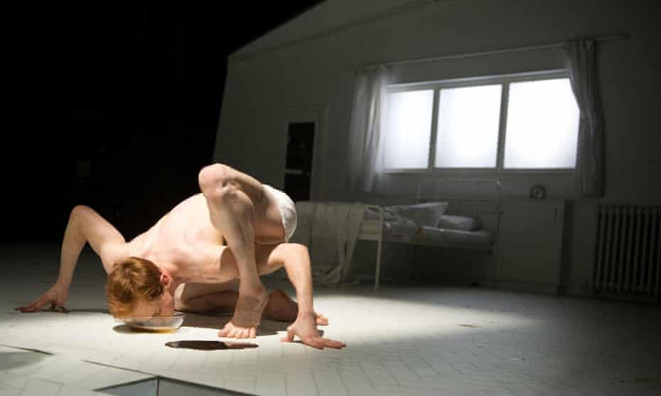 Edward Watson  as Gregor Samsa in the Royal Ballet adaptation of Metamorphosis.