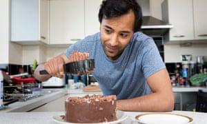 Rhik Samadder tries out the cake server