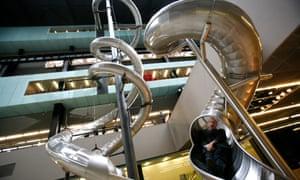 Höller's Test Site installation in the Tate's Turbine Hall.