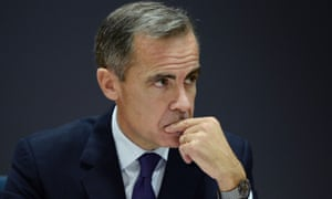 The governor of the Bank of England, Mark Carney. he could leave office at the end of his five-year term with interest rates at just 1.5%.