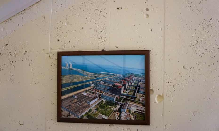Picture of Zaporizhia Nuclear Power Station in the hotel in Energodar