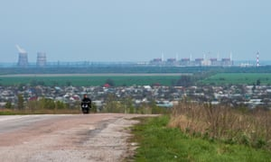 Zaporizhia Nuclear Power Station and villages surrounfing it