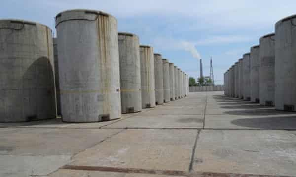fuel rods in open air taken by one of the people on the Zaporizhia visit