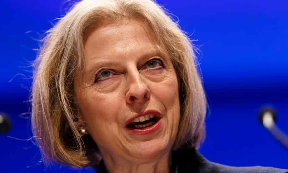 Conservative home secretary Theresa May