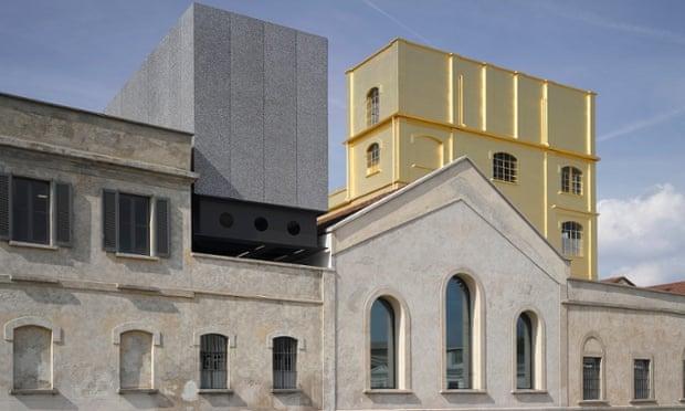 The Fondazione Prada in Milan designed by Rem Koolhaas.