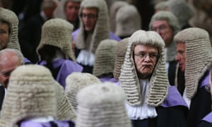 Judges congregate in Westminster Abbey before their Annual Service of Thanksgiving