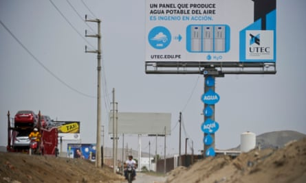 High hopes: one of the billboards that turns humidity into water.