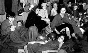Women and children inmates at Bergen-Belsen camp, Germany, April 1945.
