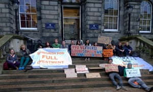 Students occupy Endinburgh University Management building today