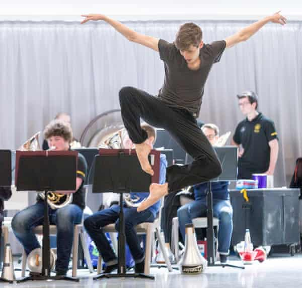 Ballet Rambert Dark Arteries rehearsal.